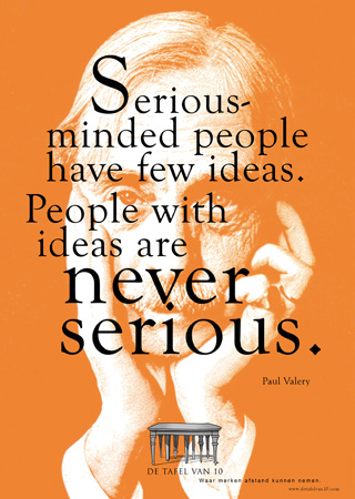Serious minded people